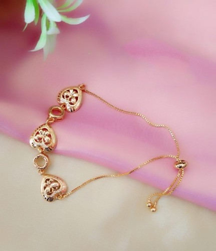 Charming Golden Colored Imitation Bracelet KLP438