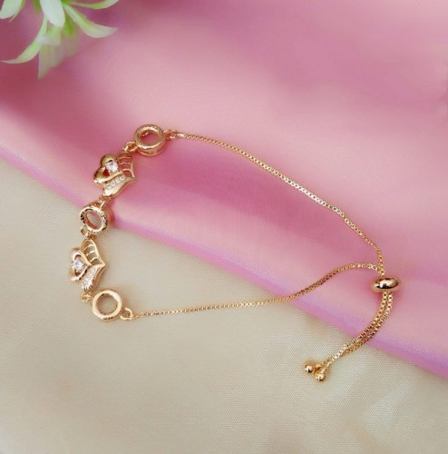 Attractive Golden Imitation White Diamond Bracelet KLP440