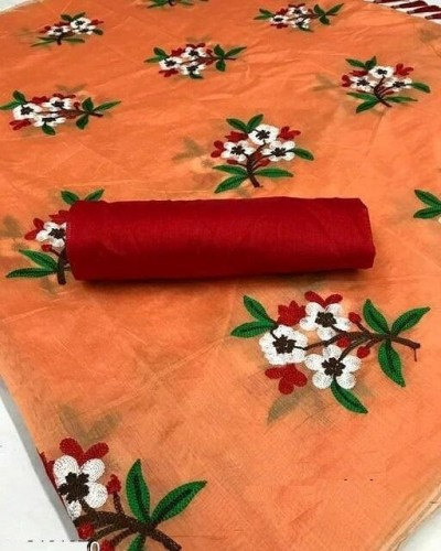 Adorable Function wear Chanderi Cotton   Sari With Blouse