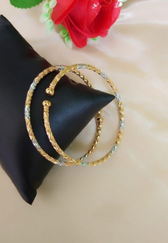 Demanding Silver Golden Colored Imitation Bangles Set KLP381
