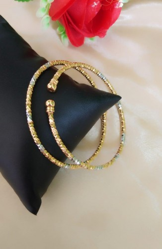 Attractive Golden Silver Colored Artificial Bangles Set KLP382