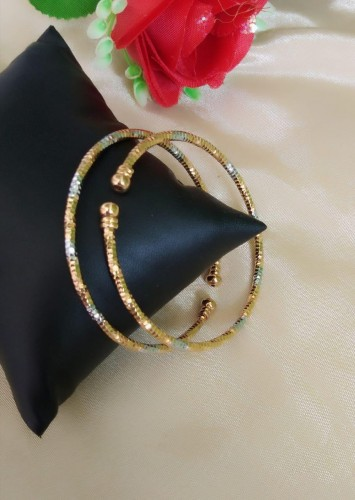 Amazeballs Silver Golden Colored Imitation Bangles Set KLP383