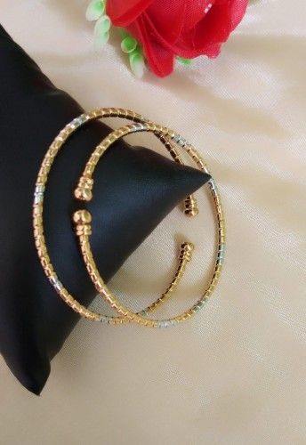 Charming Silver/ Golden Colored Imitation Bangles Set KLP386