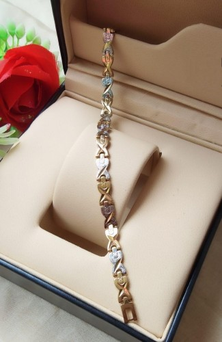 Astonishing Silver/ Golden Imitation Bracelet KLP406